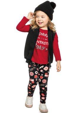 conjunto manga longa infantil menina fantastic vermelho elian 231314 1