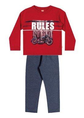 conjunto moletom infantil menino rules vermelho elian 24970 1