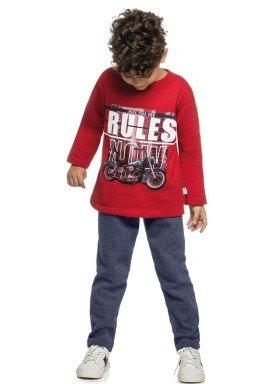 conjunto moletom infantil menino rules vermelho elian 24970 4