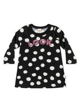 vestido molecotton infantil menina look preto elian 231318 1