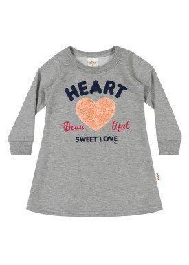 vestido moletom infantil menina heart mescla elian 231323 1