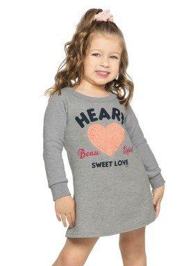 vestido moletom infantil menina heart mescla elian 231323 2
