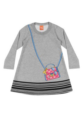 vestido moletom infantil menina mescla elian 231334 1