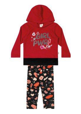 conjunto moletom infantil menina power vermelho elian 231316 1