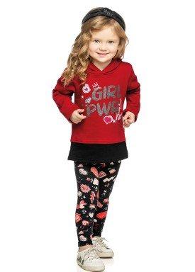 conjunto moletom infantil menina power vermelho elian 231316 4