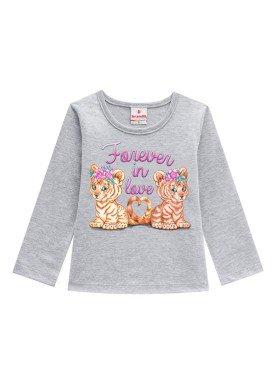 blusa manga longa infantil menina forever mescla brandili 53458