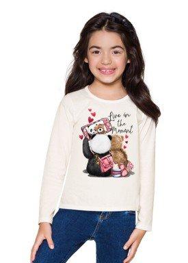 blusa manga longa infantil menina moment natural brandili 53481 2