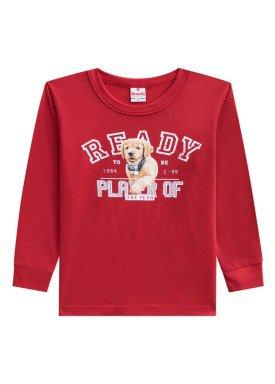 camiseta manga longa infantil menino ready vermelho brandili 53504 1