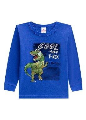 camiseta manga longa infantil menino trex azul brandili 53505 1