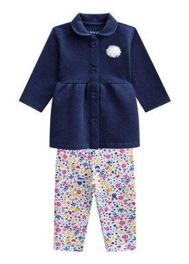 conjunto casaco moletom bebe menina marinho brandili 53612 1
