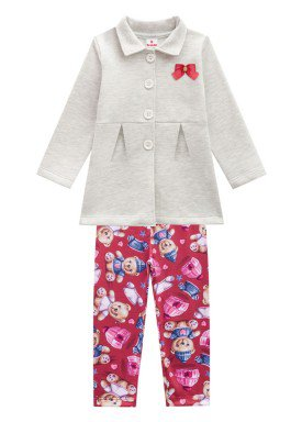 conjunto casaco moletom infantil menina mescla brandili 53475 1