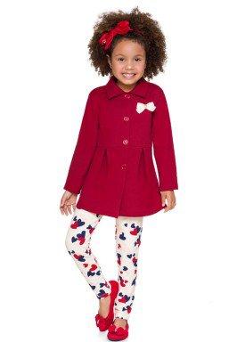 conjunto casaco moletom infantil menina vermelho brandili 53498 4