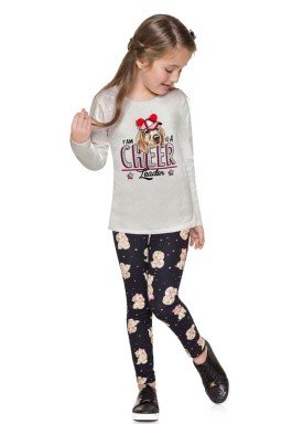 conjunto manga longa infantil menina cheer mescla brandili 53492 4