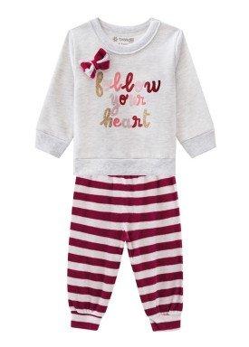 conjunto moletom bebe menina follow mescla brandili 53604 1