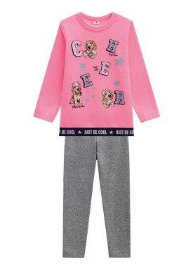 conjunto moletom infantil menina becool rosa brandili 53494 1