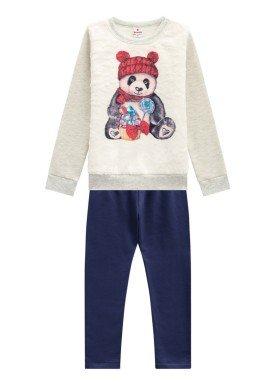 conjunto moletom infantil menina panda mescla brandili 53495 1