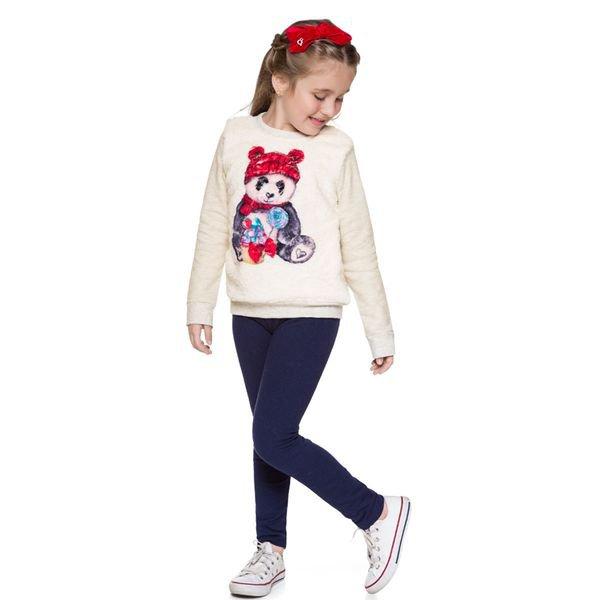 conjunto moletom infantil menina panda mescla brandili 53495 4