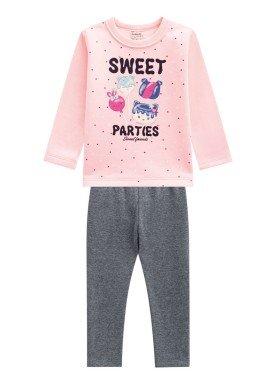 conjunto moletom infantil menina sweet pessego brandili 53643 1
