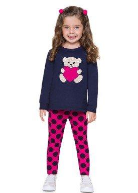 conjunto moletom infantil menina ursinho marinho brandili 53472 4