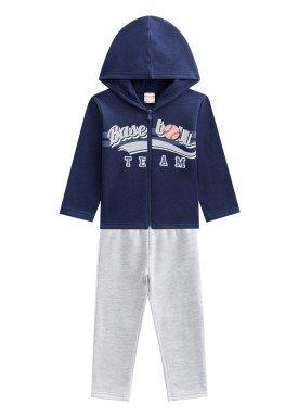 conjunto moletom infantil menino baseball marinho brandili 53660 1