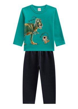 conjunto moletom infantil menino dinossauro verde brandili 53652 1