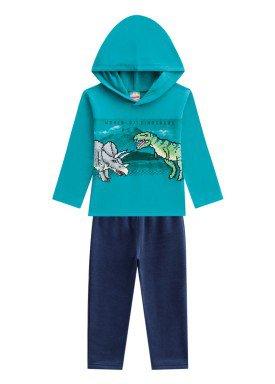conjunto moletom infantil menino dinossauros verde brandili 53658 1