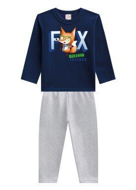 conjunto moletom infantil menino fox marinho brandili 53654 1