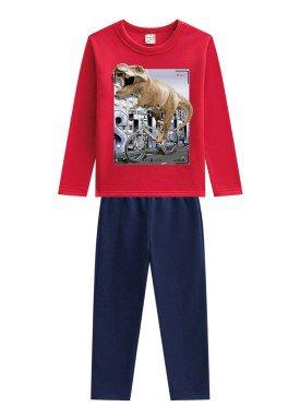 conjunto moletom infantil menino t rex vermelho brandili 53673 1