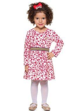 vestido manga longa infantil menina estampado natural brandili 53464 2