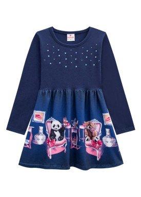 vestido manga longa infantil menina tea marinho brandili 53489 1