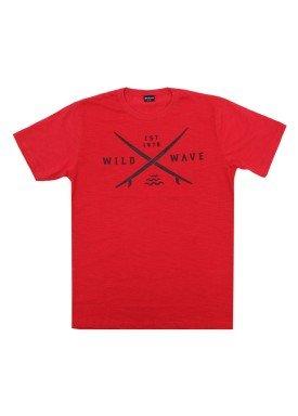camiseta juvenil menino wild vermelho extreme 23677 1