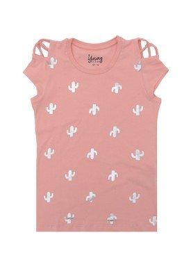 blusa juvenil menina cactos rosa young class 23656 1