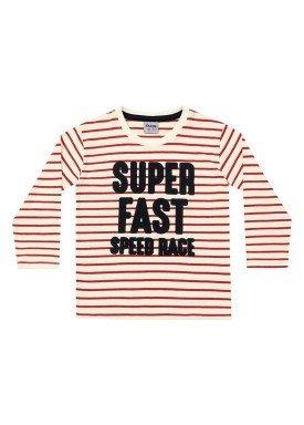camiseta manga longa infantil menino super vermelho fakini 1226