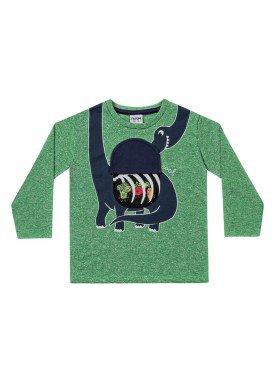 camiseta manga longa infantil menino dinossauro verde fakini 1210 1