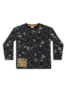 camiseta manga longa infantil menino nyc preto fakini 1236 1