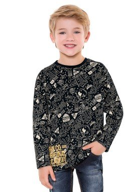 camiseta manga longa infantil menino nyc preto fakini 1236 2