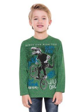 camiseta manga longa infantil menino wild verde fakini 1243 2
