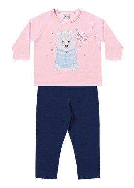 conjunto moletom bebe menina hello rosa fakini 1100 1