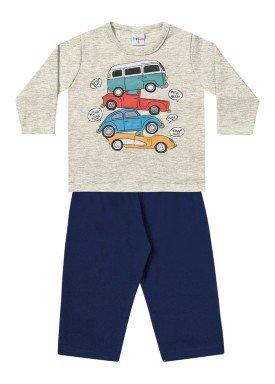 conjunto moletom bebe menino carros mescla fakini 1153 1