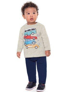 conjunto moletom bebe menino carros mescla fakini 1153 2