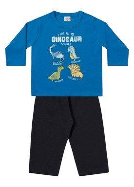 conjunto moletom bebe menino dinossauros azul fakini 1152 1