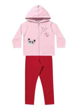 conjunto moletom infantil menina panda rosa fakini 1107 1