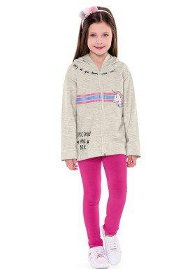 conjunto moletom infantil menina unicornio mescla fakini 1113 2