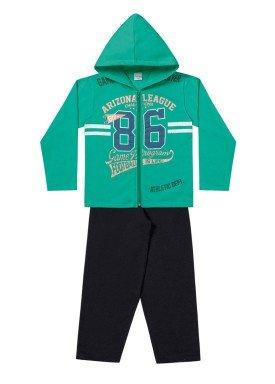 conjunto moletom infantil menino arizona verde fakini 1159 1