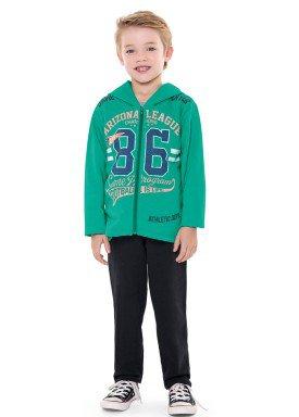 conjunto moletom infantil menino arizona verde fakini 1159 2