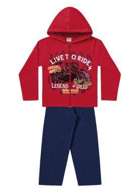 conjunto moletom infantil menino bikers vermelho fakini 1161 1