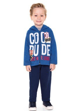 conjunto moletom infantil menino dude azul fakini 1155 2