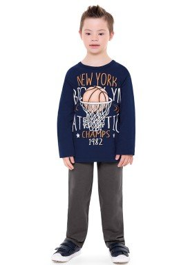 conjunto moletom infantil menino new york marinho fakini 1163 2