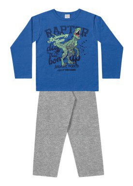 conjunto moletom infantil menino raptor azul fakini 1162 1