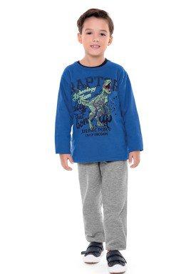 conjunto moletom infantil menino raptor azul fakini 1162 2